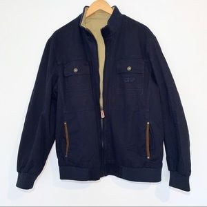 Outdoor Reversible Navy and Beige Jacket